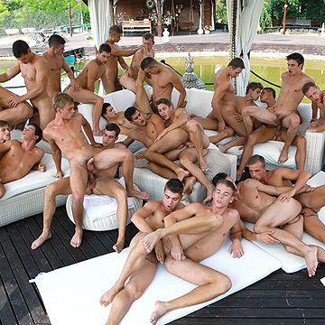 24 Boy Bareback Orgy | Daily Dudes @ Dude Dump