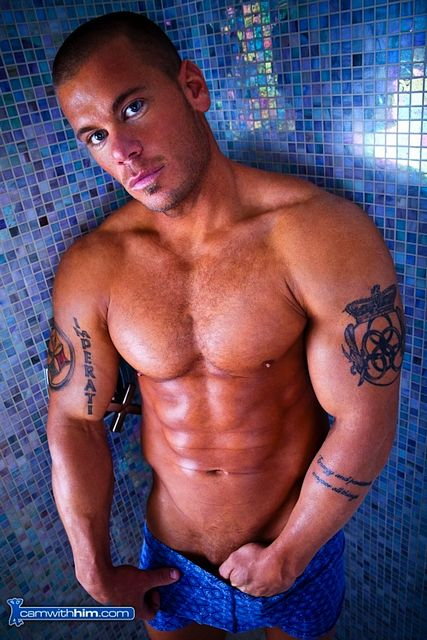 Damon Danilo Takes A Shower At Cam With Him | Daily Dudes @ Dude Dump