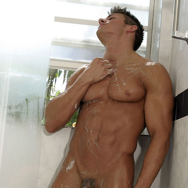 College hunk Zach in the shower | Male-Erotika.com | Daily Dudes @ Dude Dump