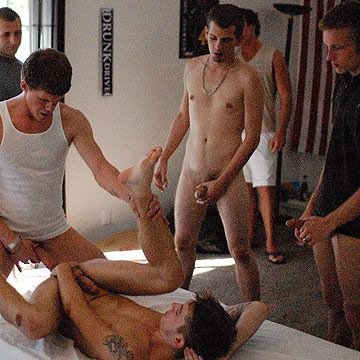 Raw GangBang Initiation | Daily Dudes @ Dude Dump