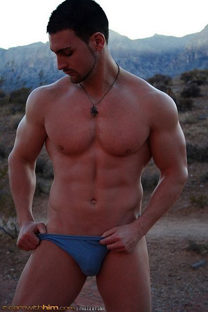 Sexy Cam Guy Jesse In The Desert | Daily Dudes @ Dude Dump