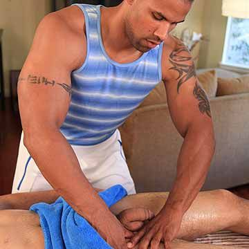 Hunky Black Masseur Fucked By Hot Jock | Daily Dudes @ Dude Dump