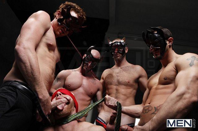 Masked Man Orgy | Daily Dudes @ Dude Dump