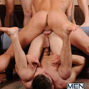 JizzOrgy.com presents: Johnny Rapid Gang Bang | Daily Dudes @ Dude Dump