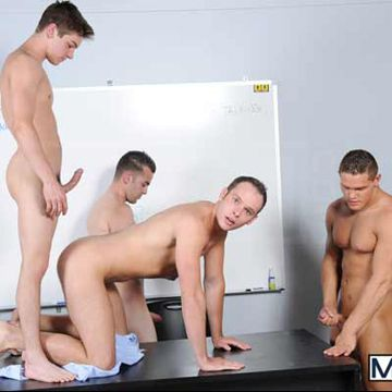 JizzOrgy.com presents: Blackboard Outline | Daily Dudes @ Dude Dump