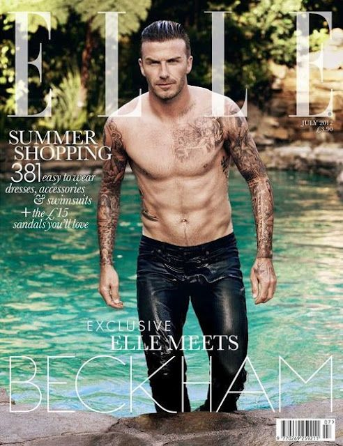 David Beckham Covers Elle UK | Daily Dudes @ Dude Dump