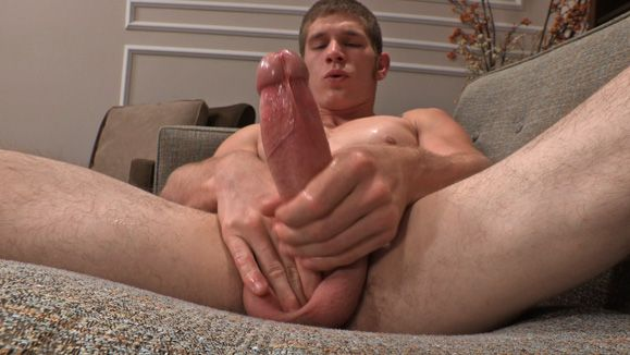 Jerking Off Hung Uncut Cock With Lean Jock Sawyer | Daily Dudes @ Dude Dump