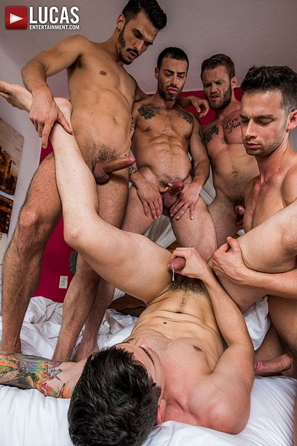 5 man fuck fest and bare back DP at Lucas | Daily Dudes @ Dude Dump