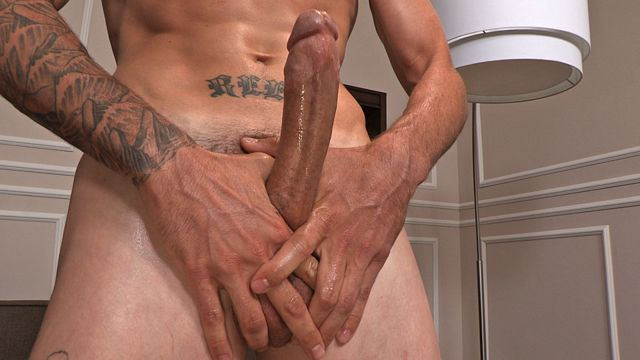 Straight Jock Jerking His Hung Jock Cock | Daily Dudes @ Dude Dump