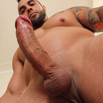 Latin Hunk's Flying Cumshot | Daily Dudes @ Dude Dump