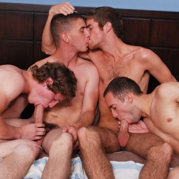 4-Guy Orgy Video | Daily Dudes @ Dude Dump
