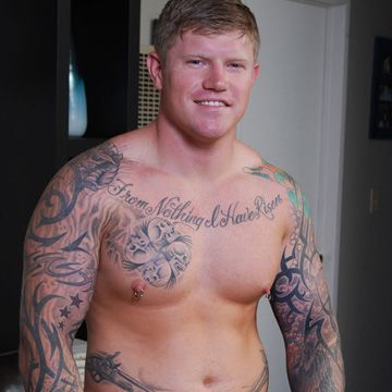 Beefy Military Hunk Jacks Off | Daily Dudes @ Dude Dump