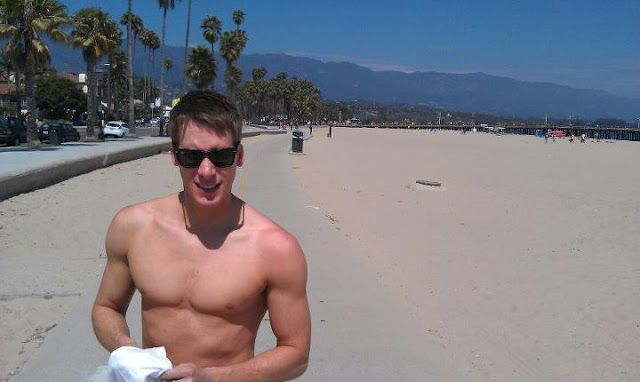 Dustin Lance Black on vacation | Daily Dudes @ Dude Dump