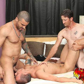 MyHusbandIsGay.com: Spit Roasting the Stripper | Daily Dudes @ Dude Dump