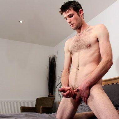 Myles jerks his uncut cock | Daily Dudes @ Dude Dump
