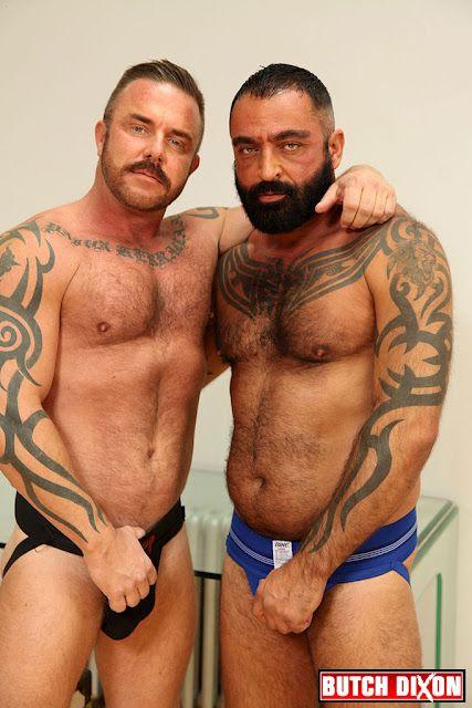 Tattooed Hairy Daddies in Jockstraps | Daily Dudes @ Dude Dump