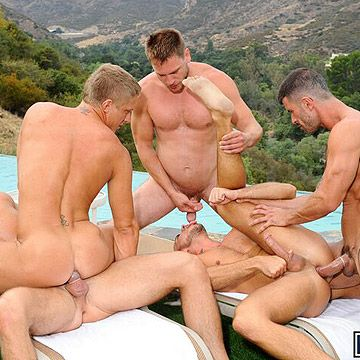 Pool Party Turns Into Orgy | Daily Dudes @ Dude Dump