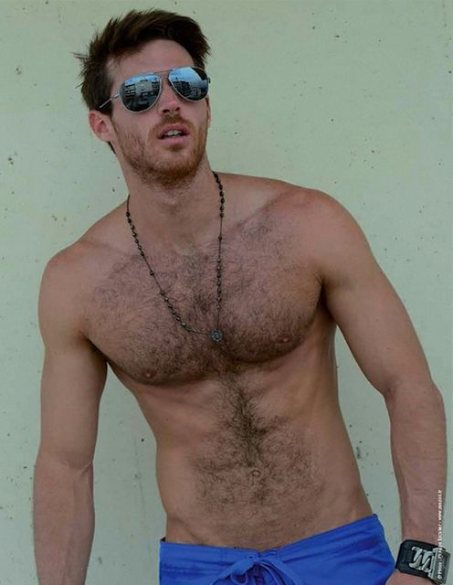 Hairy Muscle Model   Gay Body Blog   Daily Dudes @ Dude Dump