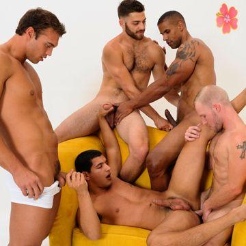 Gay Cum Party For Tony Newport | Daily Dudes @ Dude Dump