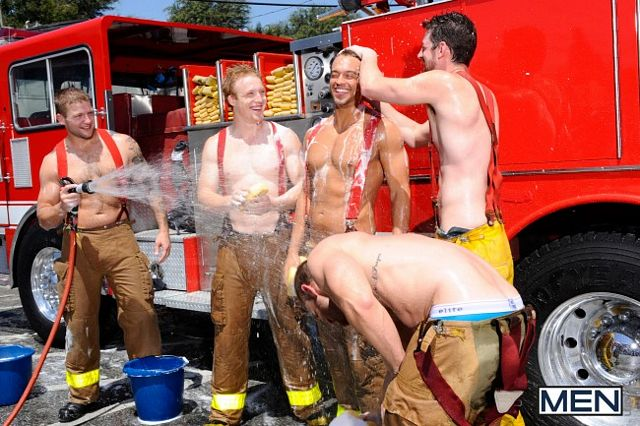 The Gay Firefighter Jizz Orgy | Daily Dudes @ Dude Dump