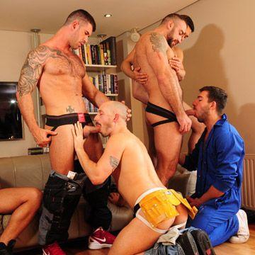 7-Man Orgy | Daily Dudes @ Dude Dump