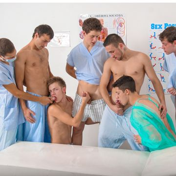 Seven Guys In A Bareback Gay Gangbang Fuck | Daily Dudes @ Dude Dump