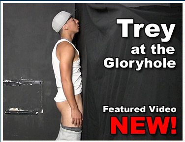 21-year-old black guy at the gloryhole | Daily Dudes @ Dude Dump