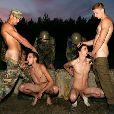 Abused by a group of soldiers | Daily Dudes @ Dude Dump