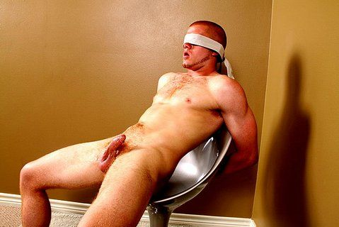 Blindfolded straight dude gets his ass fingered   Daily Dudes @ Dude Dump
