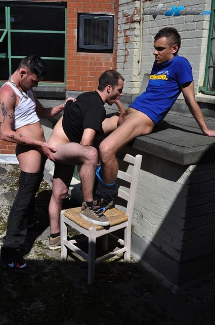 Three Uncut British Boys Sucking & Fucking Outside | Daily Dudes @ Dude Dump