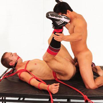 AJ Irons Fucks Bound Jock Johnny Lawless | Daily Dudes @ Dude Dump