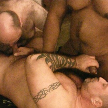 An Intense Gay Bear Threesome Fuck! | Daily Dudes @ Dude Dump