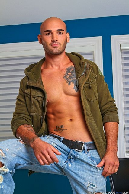 Ripped Punk Bobby Bull Jerking Off!   Daily Dudes @ Dude Dump