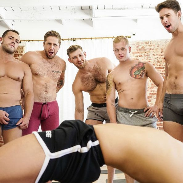 6-guy yoga orgy | Daily Dudes @ Dude Dump