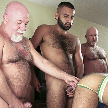 6 Hairy Man Raw Gang Bang | Daily Dudes @ Dude Dump