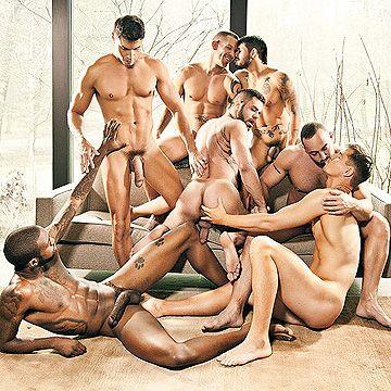 7 Men Bareback Orgy | Daily Dudes @ Dude Dump