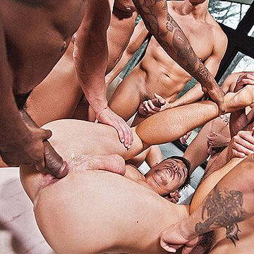 7 Men Bareback Orgy | Daily Dudes @ Dude Dump