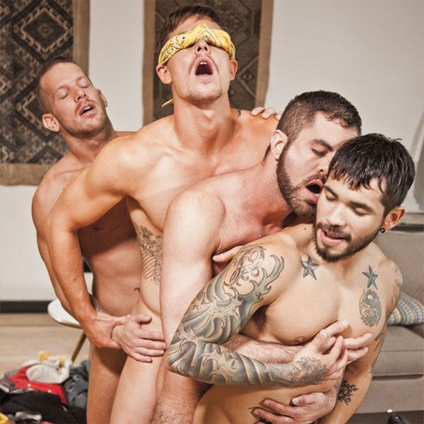 A birthday bareback orgy for Jed | Daily Dudes @ Dude Dump