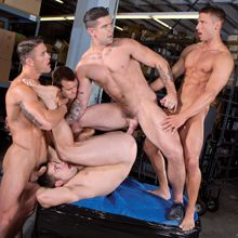 A gay jock orgy leaves Griffin dripping cum | Daily Dudes @ Dude Dump