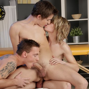 A gay massage for three horny boys | Daily Dudes @ Dude Dump