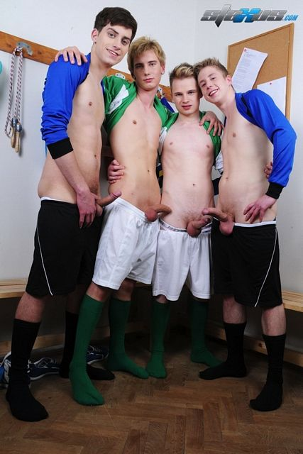 A gay orgy video with uncut soccer twinks   Daily Dudes @ Dude Dump