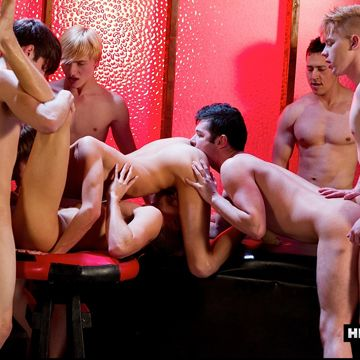 A horny 7 boy orgy of sucking and fucking | Daily Dudes @ Dude Dump