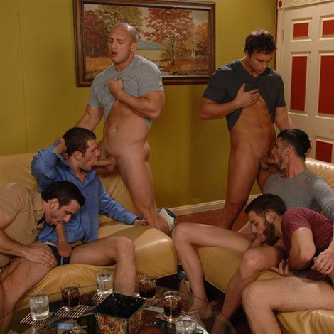 A horny fuck fest with six studs | Daily Dudes @ Dude Dump