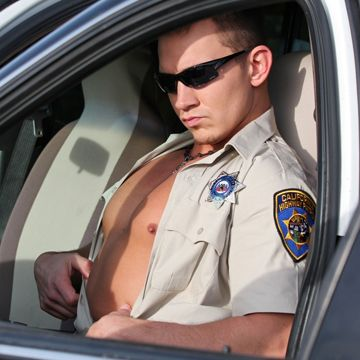 A horny hung cock jerk off with patrolman Cody | Daily Dudes @ Dude Dump