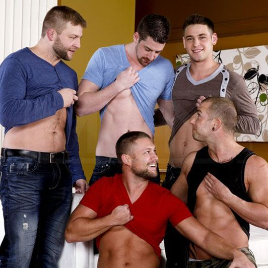 A hot fantasy gangbang | Daily Dudes @ Dude Dump