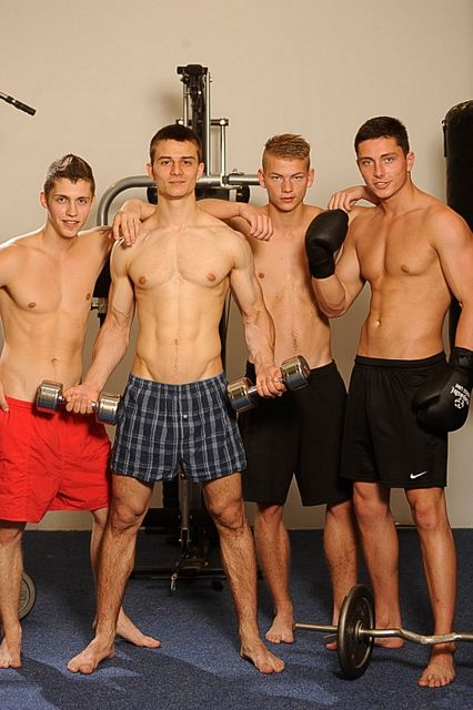 A hot uncut fourgy with straight boys in the gym | Daily Dudes @ Dude Dump