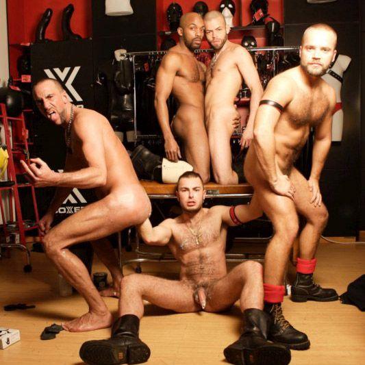 A kinky orgy with deep double-fist | Daily Dudes @ Dude Dump