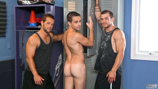 A Locker Room Jock Threesome | Daily Dudes @ Dude Dump