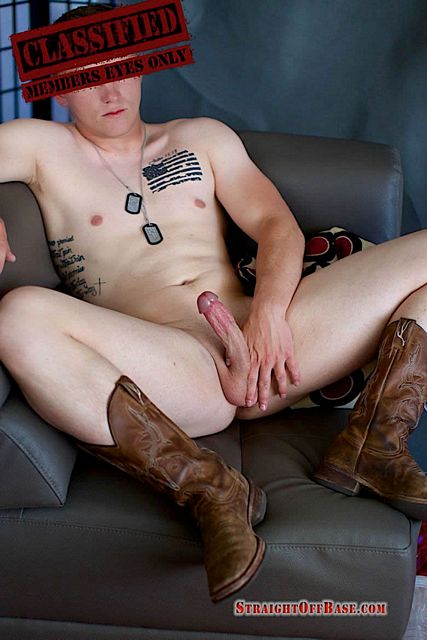 A military jerk off solo with Lance Corporal Judge | Daily Dudes @ Dude Dump