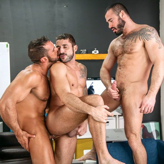 A muscle stud threesome | Daily Dudes @ Dude Dump